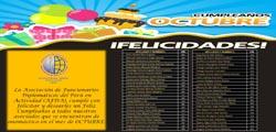 SALUDO DE CUMPLEAÑOS A TODOS LOS ASOCIADOS EN EL MES DE OCTUBRE 2016