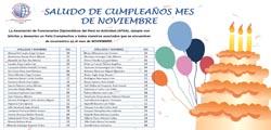 SALUDOS DE CUMPLEAÑOS A TODOS NUESTROS ASOCIADOS EN EL MES DE NOVIEMBRE